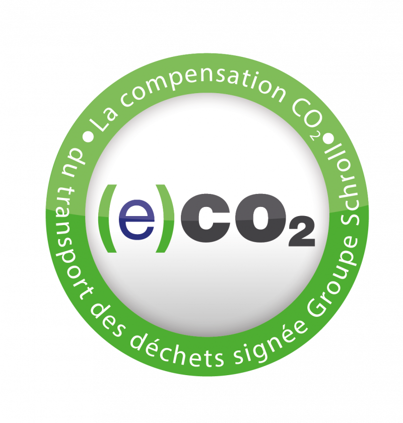 label (e)CO2 du groupe schroll